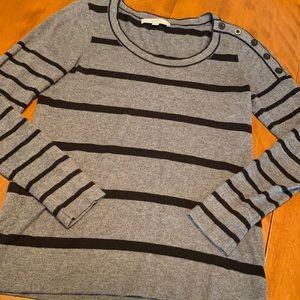 LOFT medium striped long sleeve shirt